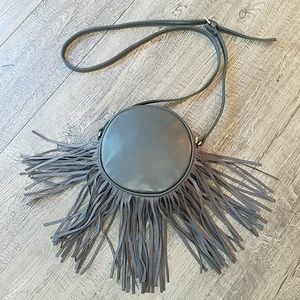 Deux Lux Round Fringe Crossbody Purse